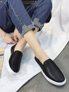 4bb54a21909 ROMWE offers Slip On PU Sneakers   more to fit your fashionable needs.