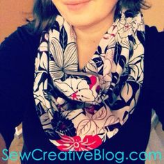 Infinity Scarf Tutorial From Sew Creative Blog Step by Step Instructions with Tons of Photos Great Beginner Sewing Project