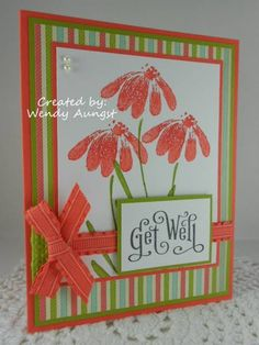 WT360~Get Well Repetitions by WeeBeeStampin - Cards and Paper Crafts at Splitcoaststampers