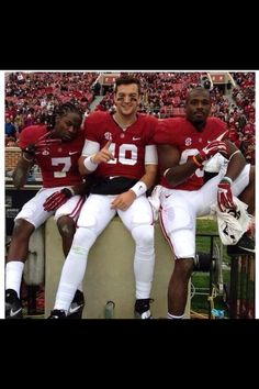 BAMA Boys! I was at this game(UTC) and saw them take this picture! 11/23/2013