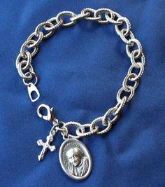 Mother Teresa of Calcutta Religious Saint Medal  Charm Bracelet