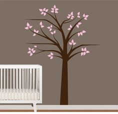 Shelf Tree Vinyl Wall Decal Nursery Tree Decal by NurseryWallArt, $74.99