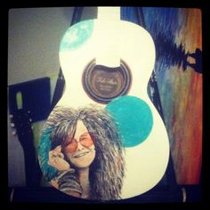 Awesome painted guitar by Mary Daniels