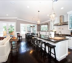 I think I've decided to do this cabinet/counter top combo in my new home. Anyone that knows me knows this is a big leap from what I normally do. White cabinets, black granite countertops