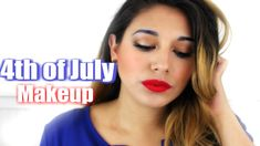 4th of July Makeup Tutorial Fourth Of July Cakes, Fourth Of July Food, Fourth Of July Shirts, 4th Of July Outfits, 4th Of July Makeup, Sparkler Photography, Kids Makeup, 4th Of July Decorations, July Wedding
