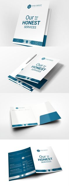 This presentation folder is stylish and unique, suitable for any kind of small to large organization. size of the folder is Easily editable for Letterhead Template, Brochure Template, Flyer Template, Folder Design, Presentation Folder, Cool Business Cards, Certificate Templates, Cards Against Humanity, Booklet Template