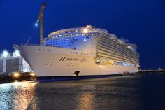 Photos of the world's largest #cruise ship, Royal Caribbean's Harmony of the Seas.