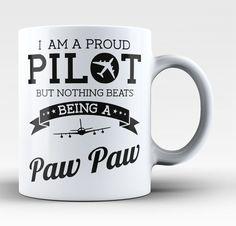 Proud Pilot - Nothing Beats Being a Paw Paw - Mug