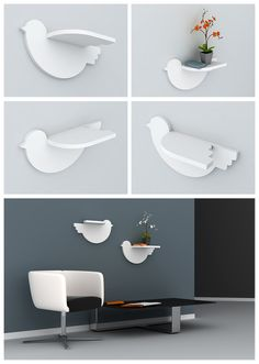bird shelf - cute! -- Igor Marisko