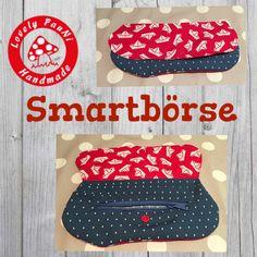 Smartbörse - kleine Tasche Portmonee - Schnitt maritim
