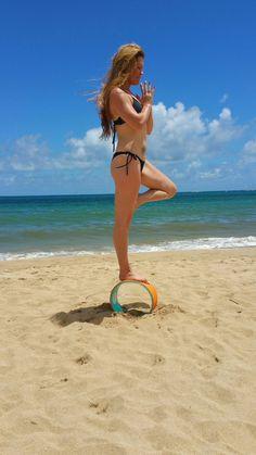 Create Balance & Flexibilty with the Island Inspired ~Aloha Kai Yoga Wheel~  www.alohakaiyogapilates.com