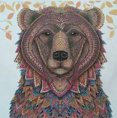 The Bear from The Menagerie colouring book