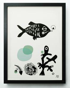"goingdanish ""Fish"" (Black/Blue)"