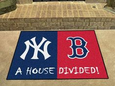 """New York Yankees - MLB - Boston Red Sox House Divided Rugs 33.75""""x42.5"""""""