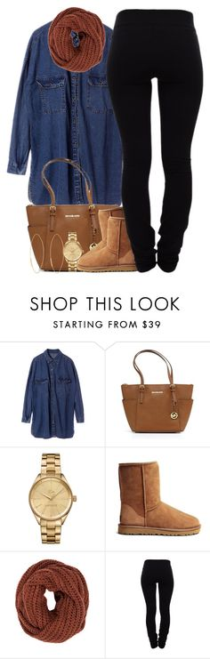 """December 19, 2k15"" by xo-beauty ❤ liked on Polyvore featuring Chicnova Fashion, Michael Kors, Lacoste, UGG Australia, mbyM, Helmut Lang and Lana"