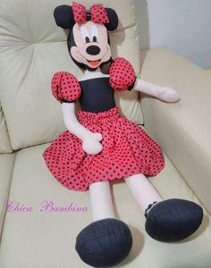 Minnie boneca de pano grande