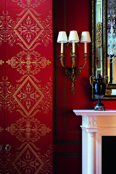 Interior Design Gallery of Interior Design Projects of Drawing rooms, Bedrooms and Halls Interior Design Gallery, Bedroom Red, Ivy House, Red Wallpaper, Red Rooms, Red Walls, Red Interiors, Decoration, Interior Decorating
