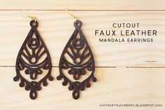 MINTED STRAWBERRY: These cutout faux leather earrings are the prettiest ones yet! See how easy it is to make your own + tips on cutting faux leather with your Silhouette.
