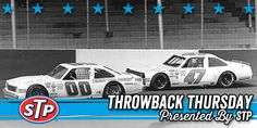 Sam Ard (00) and Ron Bouchard (47) battle for the lead during the 1984 Dixie Cup 200 at Darlington. Bouchard would go on to win the Busch Grand National (now XFINITY Series) race. #TBTbySTP #ThrowbackThursday #TraditionContinues