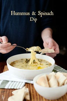 hot hummus and spinach dip recipe