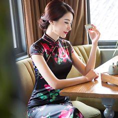 チャイナ ドレス 女優愛用 上品 女性らしい 大人 優雅 お呼ばれ お嬢様 着痩せ--九六商圏 - 海外ファッション激安通販サイト   海外通販   個人輸入   日本未入荷の海外セレブファッション