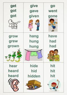 English Grammar Pdf, English Verbs, English Language Learning, English Vocabulary, Teaching English, English Lessons For Kids, Kids English, Learn English Words, Three Forms Of Verb