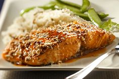 Simple, yet elegant, this Sesame-Encrusted Salmon is the perfect entrée to serve at your next dinner party.  Pair with rice pilaf and steamed sugar snap peas to round out the meal.