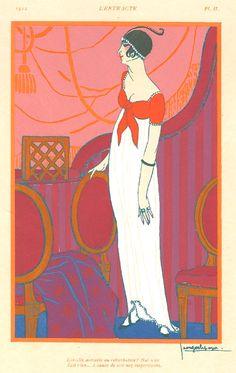 Other art deco fashion illustrators, part I Art Deco Illustration, Fashion Illustration Vintage, Vintage Illustrations, Fashion Illustrations, Illustrations Posters, Art Nouveau Poster, Art Deco Posters, Moda Art Deco, Inspiration Art