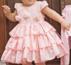 molde, corte e costura - Marlene Mukai : Infantil: Vestido com Babados Sobrepostos