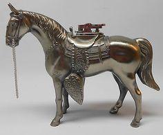 Vintage Metal Horse Cigarette Lighter Japan Figural