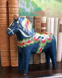 Excited to share this item from my #etsy shop: XL Vintage blue Dala horse Dalahäst from Dalarna Sweden handpainted Hand Carved, Hand Painted, Close Up Photos, Sweden, Carving, Etsy Shop, Horses, How To Wear, Blue