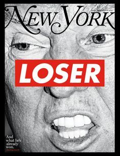 Cover: Donald Trump by Barbara Kruger for the Election Issue -- New York Media Press Room