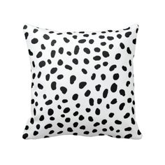 Our decorative throw pillow covers and inserts with this lovely spotted dalmatian print will look great on your sofa or bed. You can customize these throw pill…