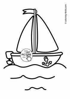 Cute Boat Coloring Page For Toddlers Transportation Pages Printables Free