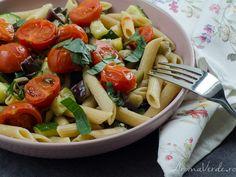 Pasta Salad, Zucchini, Vegan, Ethnic Recipes, Food, Crab Pasta Salad, Essen, Meals, Vegans