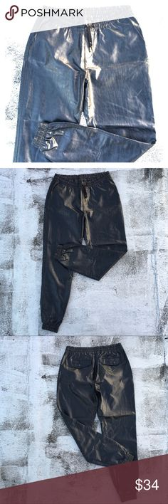 VINTAGE Embossed Leather Jogger Pants 90s Leather Joggers, in supreme condition Vintage Pants Track Pants & Joggers