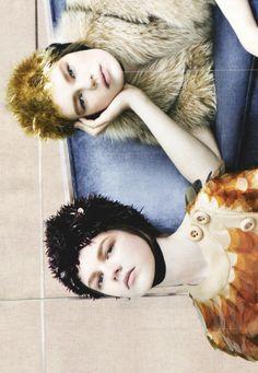"meiselmuse: "" Kelly Mittendorf & Antonia Wesseloh/Prada F/W 2011 by Steven Meisel """