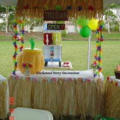 Great idea for a luau theme children party!