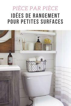 Découvrez des idées de rangement pour les petites surfaces, pièce par pièce, qui font gagner de la place à la maison !