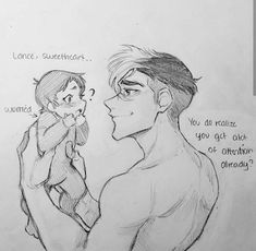 shiro and lance but lance is a baby art