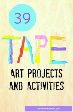 Awesome tape art projects and activities
