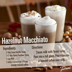 My favourite!  Starbucks apparently doesnt make it anymore:(. Hazlenut Macchiato // Made with Torani