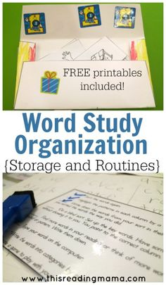 Word Study Organization for Storage and Routines - This Reading Mama