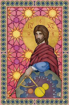 "Christ the Geometer, the ""world measurer."" ""through Him all things were made and without Him was nothing made that was made,"""