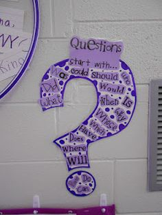 Copied this idea from Pinterest...love catching my kids using the Question mark to help them write their sentences!
