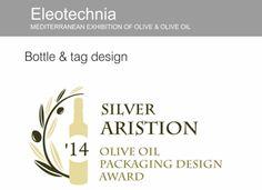Label :SILVER 2014 MONAKRIVO  Bottle & tag design
