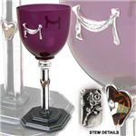 Graceful, classical, and elegant, one can easily imagine the Desiree Wine Glass sitting on a candle-lit table, ready to receive wine and offer a toast to a romantic moment of well-deserved intimacy between two lovers. Renaissance Era, Renaissance Clothing, Medieval Wedding, Drinking Glass, Wine Glass, Romantic, Elegant, Tableware, Alchemy