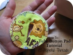 G tube (feeding tube) covers to absorb leakage and to look cute tutorial. Maybe to make and drop off at a local hospital.  @Patricia Smith Muldoon