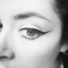 Classic black eyeliner flick by Charlotte George. See more of my work at www.charlottegeorgemakeup.com