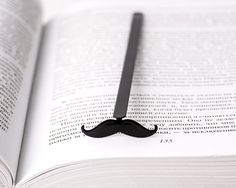 Bookmark Moustache  laser cut metal powder coated by CoolBookmark, $9.99